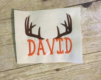 Deer Antlers Embroidery Design, Deer Antlers applique