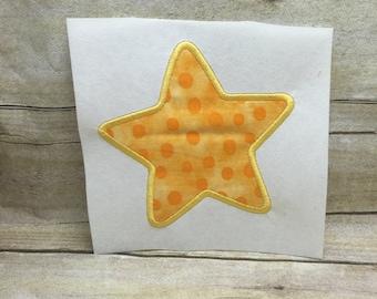 Star Applique, Star Embroidery Design Applique,