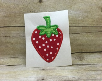 Strawberry Applique, Strawberry Embroidery Design Applique