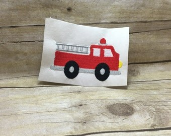 Fire Truck Embroidery Design, Firetruck Embroidery Design