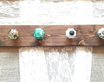 Jewelry Wall Organizer, Necklace holder, jewelry hanger, knob jewelry holder,