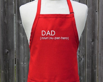 Apron for Dad, Personalized Apron, Gift for Dad, Superhero