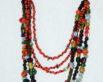 Necklace gemstones seedlings and seeds of Madagascar