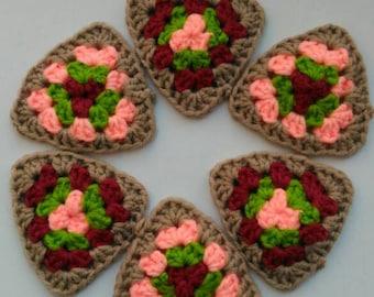 Crochet Square Triangle Handmade