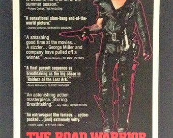 """The Road Warrior Movie Poster 12""""x18"""" Reproduction // Mad Max // Mel Gibson // 1981 // Science Fiction // Post Apocalyptic // Australia"""