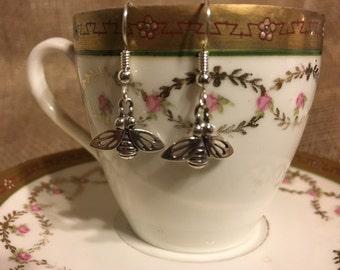 Honey for my tea! Sterling Silver Earrings