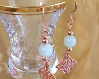 Copper Jade Earrings