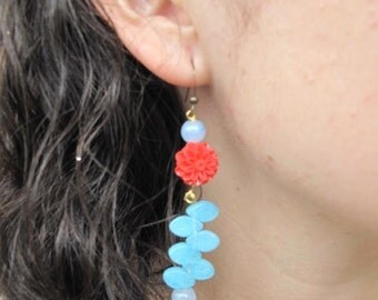 Red and blue - dalia dalia red and blue dangles earrings earrings