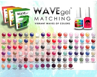 WaveGel Matching Match Color Gel Duo Set with Same Color Polish 0.5 oz Pair Lechat Perfect Match OPI