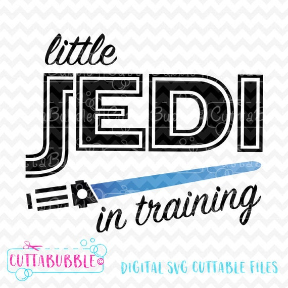 Star Wars Cute Trainee Jedi Svg Cut File Png Dxf For