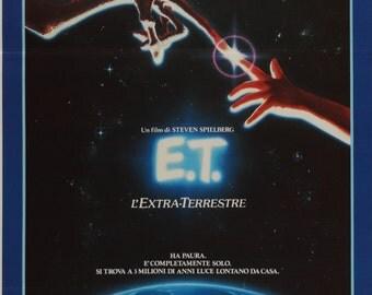 E.T. The Extra Terrestrial (1982) Vintage Italian Movie Poster - Steven Spielberg - FREE U.S. SHIPPING