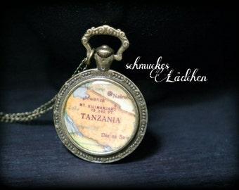 "Antique bronze vintage chain ""Globetrotter"""