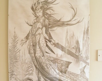 fantasy art ice witch