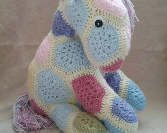 Hand Crocheted Fatty Lumpkin the Pony