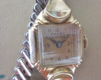 ANCRE 15 Rubis Rare Swiss Made Ladies Wrist Watch   See Description  PatriciaInExcess  S 435