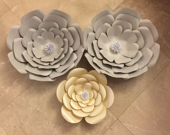 3 piece paper flower set