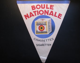 Old paper poster Boule national ... 30