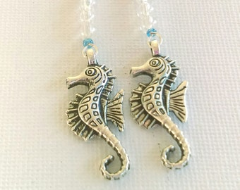 Fun Seahorse earrings with bubble beads