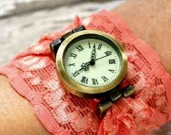 Lace cuff watch
