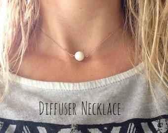 Essential Oil Diffuser Necklace • Aromatherapy • Coral Bead Necklace • Essential Oil Diffuser • Aromatherapy Necklace, Great gift idea!