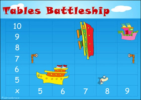 Math Game Multiplication Game 5 Times Table to 10 by GoTeachThis