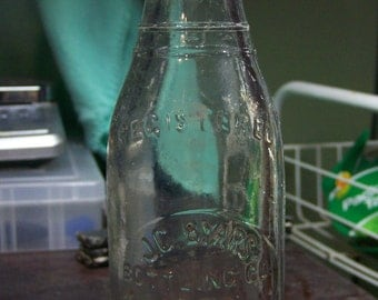 J.G. Byars North Hoosick, NY Glass Soda Water Bottle 1920s