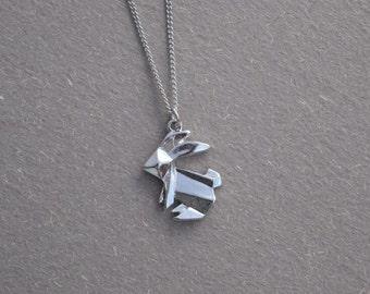 rabbit necklace silver necklace everyday necklace bridesmaid necklace