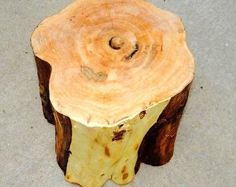 WW | Wood Stump Side Table IV