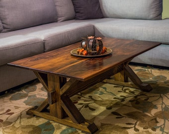 Walnut Trestle Coffee Table