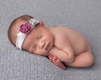 Winter Romance / Newborn Headband / Baby Headband / Baby Photo Prop
