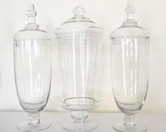 Apothecary Jars - Set of 3