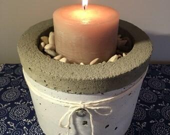 """large concrete planter pot / concrete candle holder / """"provence edition"""""""