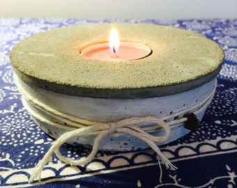 "concrete tea light holder ""provence edition"""
