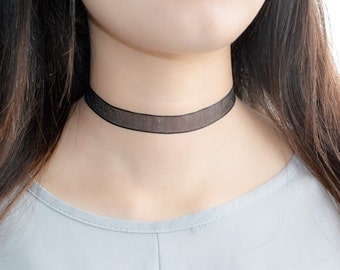 Simple Black Lace Choker Necklace