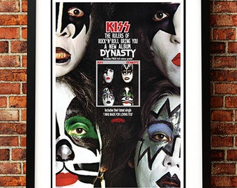 Kiss - Classic American Rock Band Vintage Concert Poster