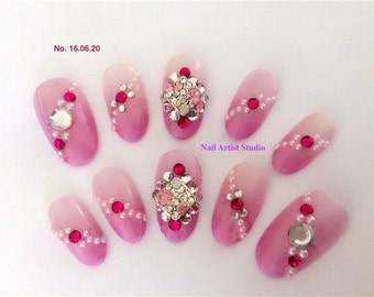 Handmade artificial nail tips