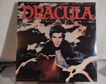 """DRACULA (1979, JOHN WILLIAMS)  Rare Mint 12"""" Vinyl Lp Soundtrack!  Great cover layout!  Collectible for horror fans & John Williams fans!"""
