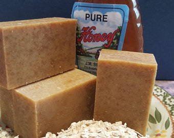 Oatmeal Honey Cold Process Soap Bar