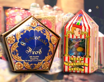 ORIGINAL version of Harry Potter. Bertie Botts and Chocolate Frog [Print]