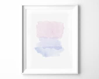 WATERCOLOR PRINTABLE #2 | Watercolor Print | Watercolor Art | Pink Watercolor | Pink Art | Abstract Art | Watercolor Art Print