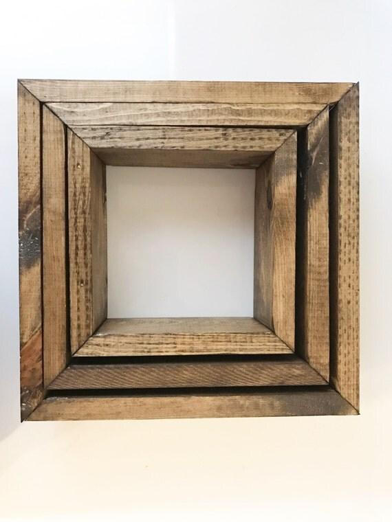 Floating Box Shelf rustic box shelves set of 3 floating box shelves floating