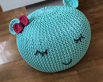 Crochet Pouf Etsy