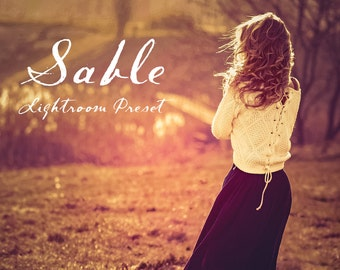 Sable Dark Autumn Sunset Lightroom Preset Professional Photo Editing for Portraits, Newborns, Weddings By LouMarksPhoto