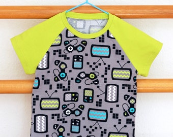 Children shirt with raglan sleeves gaming (Special Edition)