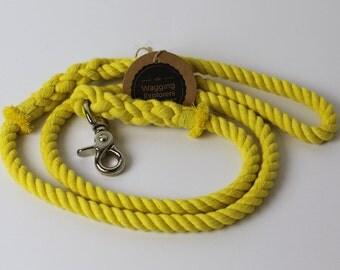 Cotton Rope Dog Leash - Daffodil