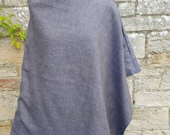Scottish wool and linen poncho.  Hand made with love!