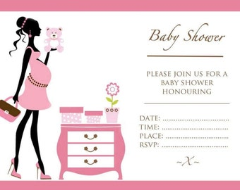 Baby Shower Invitations - Pink