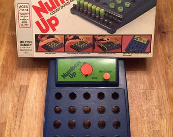 1975 Vintage Numbers Up - Count Down Against the Clock! By Milton Bradley No 4541