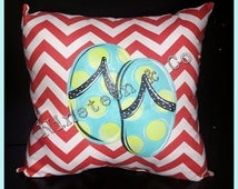 Hand Painted, Exterior Pillow - FREE SHIPPING