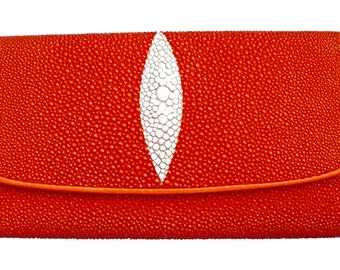 Real leather of Shagreen STINGRAY Womens wallet